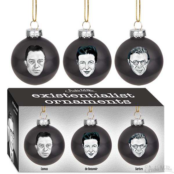 Existentialist Ornament Set of 3