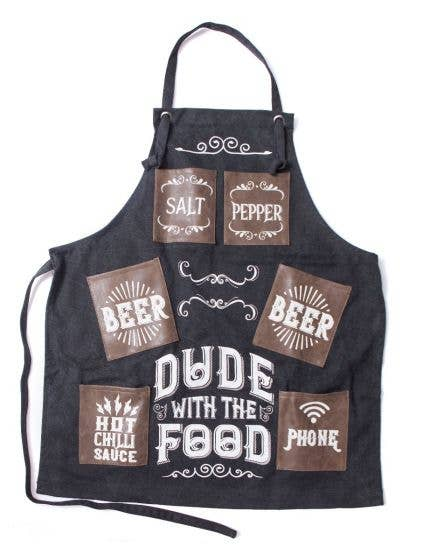 Canvas Apron - Dude With Food