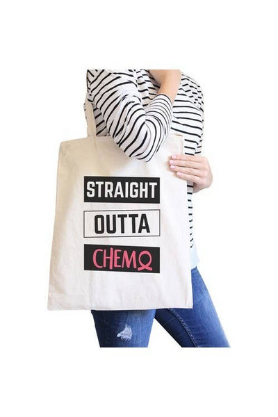 Straight Outta Chemo Breast Cancer Canvas Bag