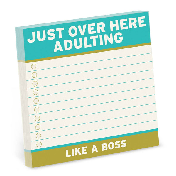 Adulting Large Sticky Notes (4 x 4-inches)