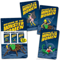 Monster Women Pocket Notebook Set