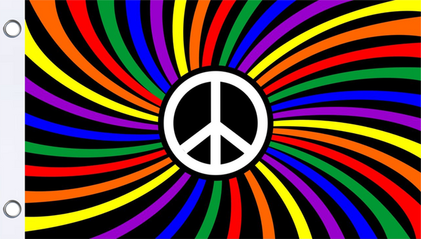 Rainbow Peace Flag 3' x 5'
