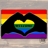 Pride Love Welcome Mat