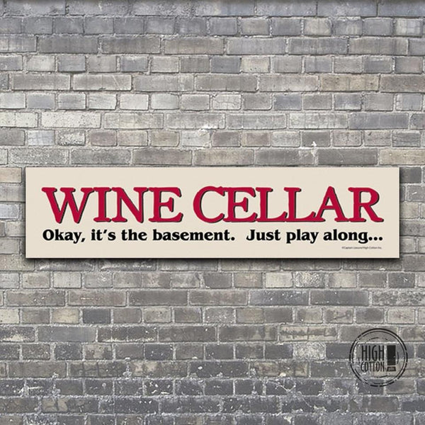 Wine Cellar Wall Sign - 16""