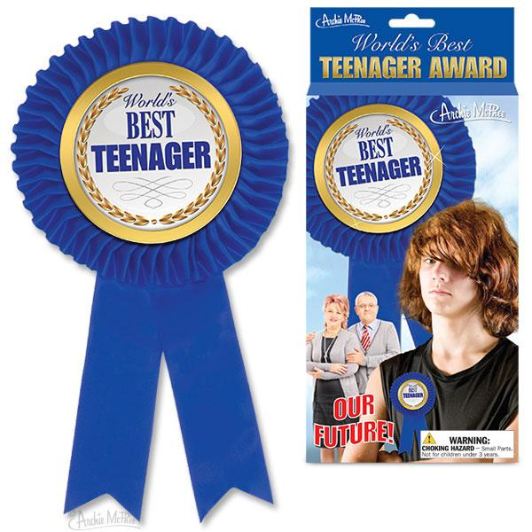 Worlds Best Teenager Award Ribbon
