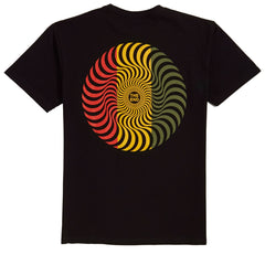 Spitfire Classic Swirl SS Black/Red/Gold/Olive T