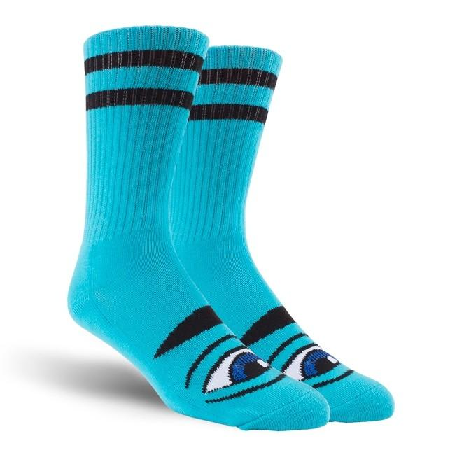 TM Sect Eye Stripe Crew Socks-Aqua