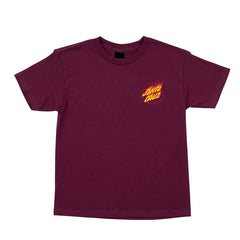 Flame Hand S/S Regular T-Shirt Burgundy