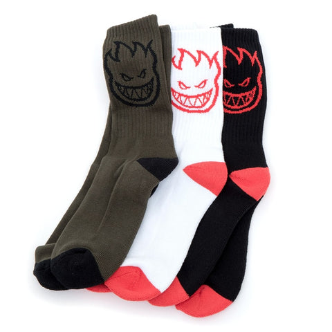 Copy of Spitfire Big Head LTB Crew Socks Black/Red/Gold 1 Pair