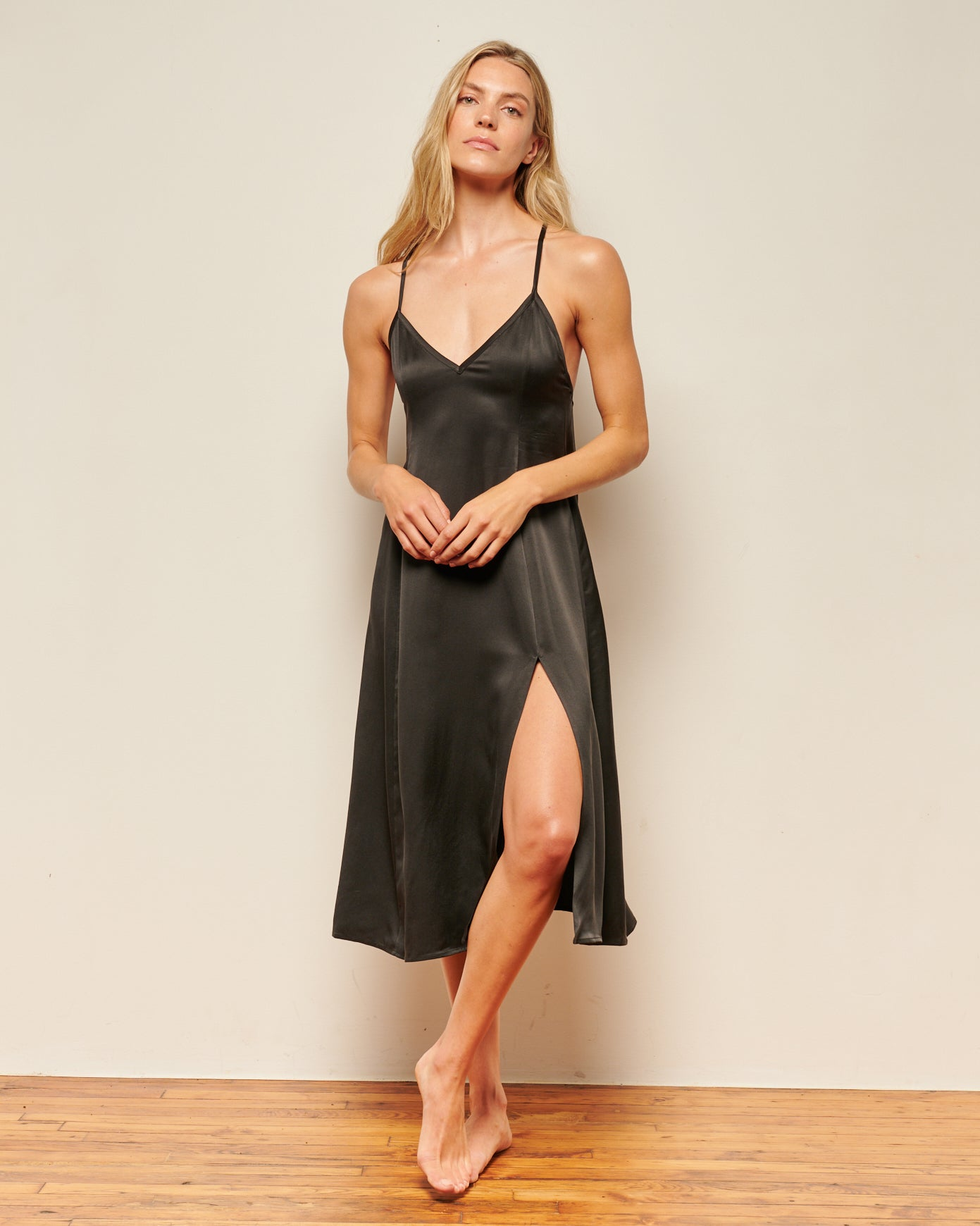 long black silk nightgowns
