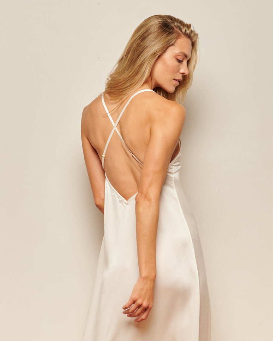 backless slip dress