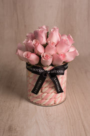 MARSHMALLOWS ROSADOS CON ROSAS