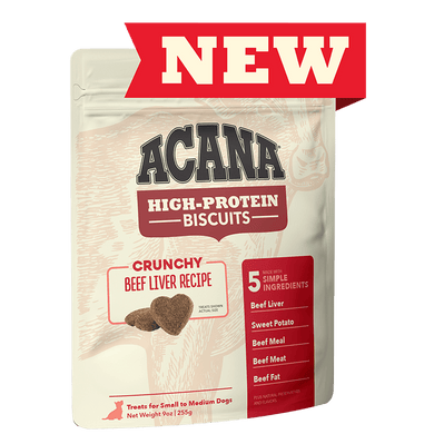 Acana Beef Liver Recipe High-Protein Biscuits 9 oz.
