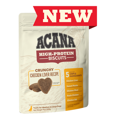 Acana Chicken Liver Recipe High-Protein Biscuits 9 oz.