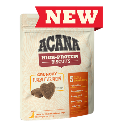 Acana Turkey Liver Recipe High-Protein Biscuits 9 oz.
