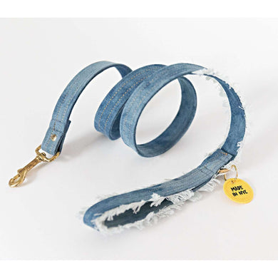 Ari & M Tie-Dye Denim Leash