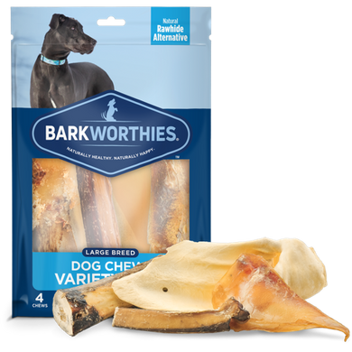 Barkworthies Dog Chews Variety Pack-Large Breed