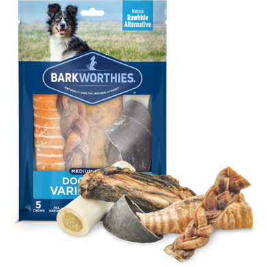 Barkworthies Dog Chews Variety Pack-Medium Breed