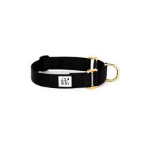 Load image into Gallery viewer, Dog + Bone Martingale Collar-Black