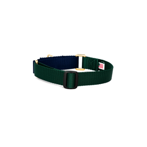 Dog + Bone Martingale Collar-Forest & Navy