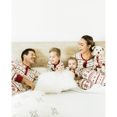 Dog Threads Men's Festive Fam Holiday Pajamas