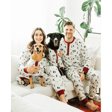 Dog Threads Men's Fun Fam Surfing Santa Pajamas
