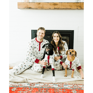 Dog Threads Women's Fun Fam Surfing Santa Pajamas