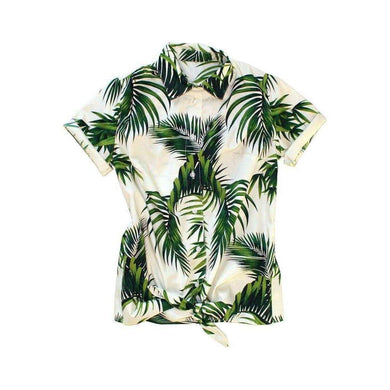 Dog Threads Women's Havana Palms BBQ Shirt