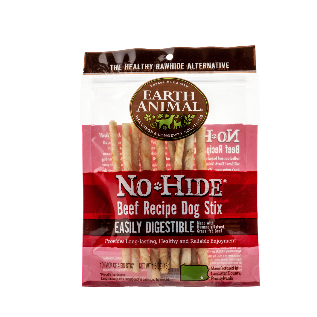 Earth Animal No-Hide Beef Recipe Stix-10 pack
