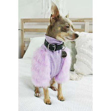 Load image into Gallery viewer, Eye of Dog Lilac Faux Fur Ribbed Top