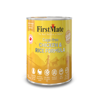 First Mate Chicken & Rice Canned Dog Food 12.2 oz.
