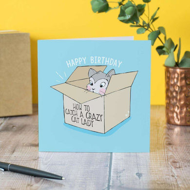 House of Wonderland Cat Birthday Card