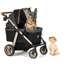 Load image into Gallery viewer, HPZ Pet Rover Titan HD Premium Super-Size Stroller SUV For Dogs, Cats, and Small Animals-Black