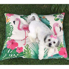 Load image into Gallery viewer, Indie Boho Pets Flamingo Paradise Pet Bed