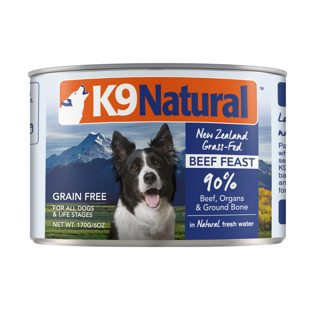 K9 Natural Beef Feast Canned Dog Food 6 oz.