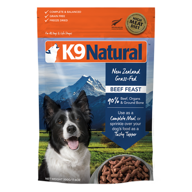 K9 Natural Beef Feast Freeze-Dried Dog Food