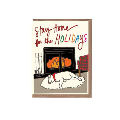 La Familia Green Stay Home for the Holidays Card