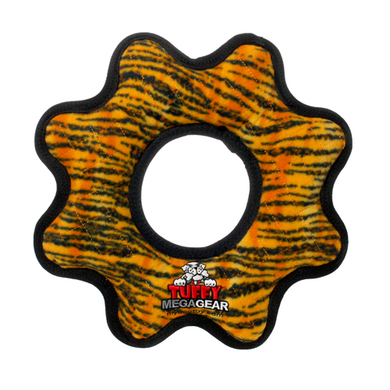 MEGA Gear Ring Tiger Print Dog Toy