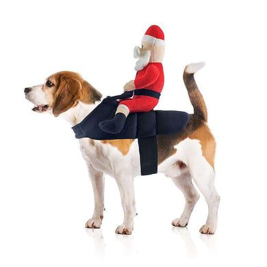 Midlee Designs Santa Claus Jockey Pet Costume