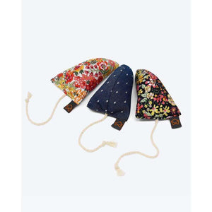 MODERNBEAST Three Modern Mice Floral & Denim Trio Cat Toys