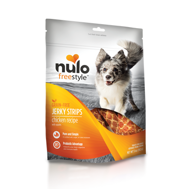 Nulo FreeStyle Chicken & Apple Jerky Treats 5 oz.