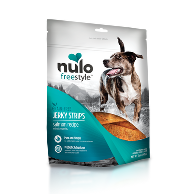 Nulo FreeStyle Salmon & Strawberry Jerky Treats 5 oz.
