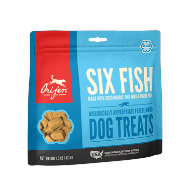 Orijen Six Fish Freeze-Dried Dog Treats 3.25 oz.