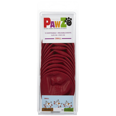 PAWZ Small Dog Booties-Red