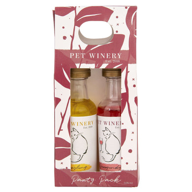 Pet Winery Pawty Pack Cat Wine-Red & Yellow