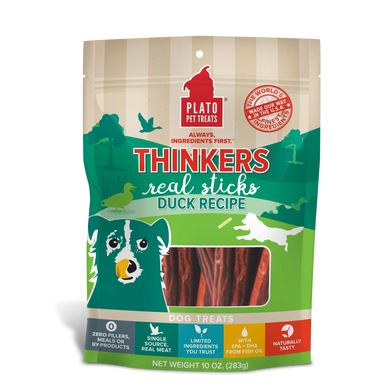Plato Thinkers Duck Dog Treats 10 oz.