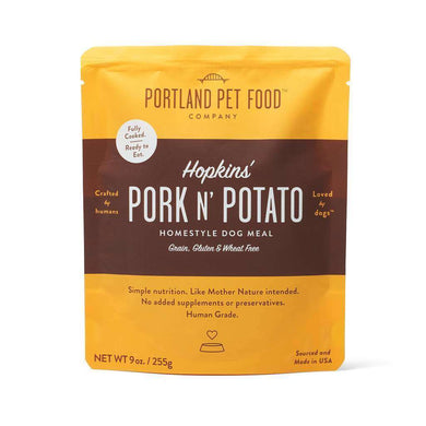 Portland Pet Food Company Hopkins' Pork N' Potato Meal Pouches 9 oz.