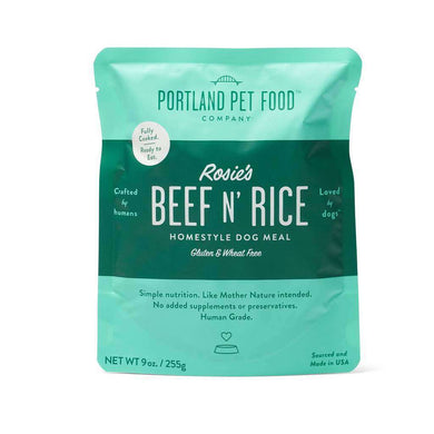Portland Pet Food Company Rosie's Beef & Rice Meal Pouches 9 oz.