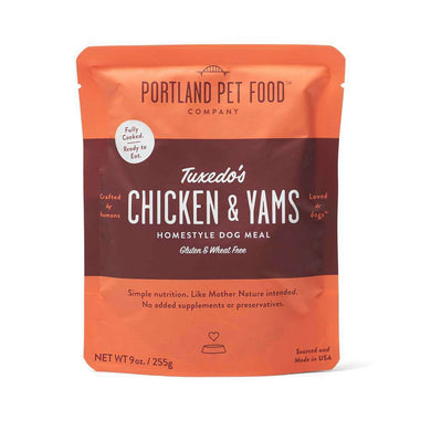 Portland Pet Food Company Tuxedo's Chicken & Yams Meal Pouches 9 oz.