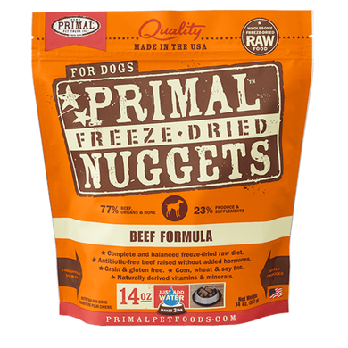PRIMAL Beef Formula Freeze-Dried Raw Dog Food 14 oz.